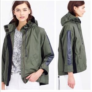 J.Crew Cinched Swing Trench Coated Cargo Jacket